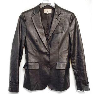 Corine Roitfled Black Vegan Leather Jacket